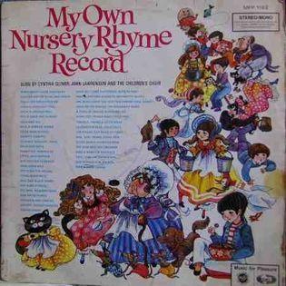 My Own Nursery Rhyme Record